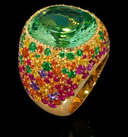 Mousson Atelier Riviera Gold Beryl Ring R0040-4/12