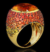 Mousson Atelier Riviera Gold Citrine Ring R0040-4/27