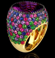 Mousson Atelier Riviera Gold Amethyst Ring R0040-4/28