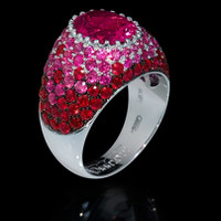 Mousson Atelier Riviera Gold Rose Tourmaline Ring R0072-0/1