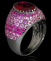 Mousson Atelier Riviera Gold Rhodolite Ring R0072-0/15