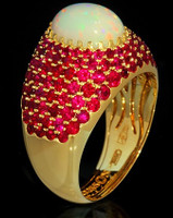 Mousson Atelier Riviera Gold Opal Ring R0072-0/16