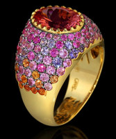 Mousson Atelier Riviera Gold Pink Tourmaline Ring R0072-0/3