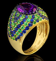 Mousson Atelier Riviera Gold Amethyst Ring R0072-0/5
