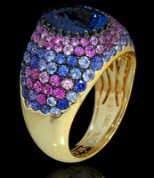 Mousson Atelier Riviera Gold London Topaz Ring R0072-0/9