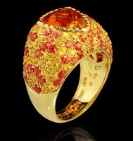 Mousson Atelier Riviera Gold Citrine Ring R0073-0/2