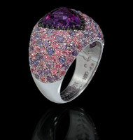 Mousson Atelier Riviera Gold Amethyst Ring R0073-0/3