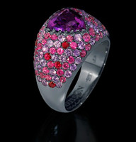 Mousson Atelier Riviera Gold Amethyst Ring R0073-0/5