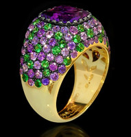 Mousson Atelier Riviera Gold Amethyst Ring R0074-0/1