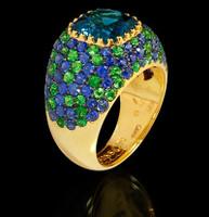 Mousson Atelier Riviera Gold London Topaz Ring R0074-0/2