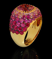 Mousson Atelier Riviera Gold Rose Tourmaline Ring R0074-0/6