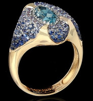Mousson Atelier Riviera Gold Aquamarine Ring R0207-0/1
