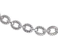 Sterling Silver Large Oval Traversa Link Bracelet