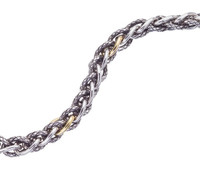 18Kt/Sterling Silver Traversa Twisted Bracelet