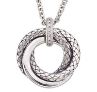 Sterling Silver Pendant With Interlocking Traversa