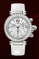 Cartier Pasha Seatimer Medium (WG Diamonds/MOP /