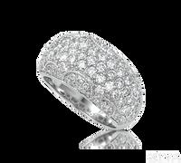 Ziva Vintage Pave Diamond Band