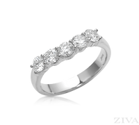 Ziva Curved Diamond Wedding Band