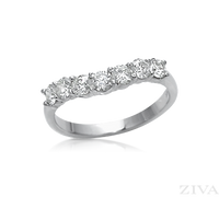 Ziva Curved Diamond Band
