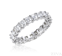 Ziva Asscher Cut Eternity Ring