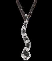 Van Der Bauwede 18K WG Sapphire & Diamond Snake Pendant 00194