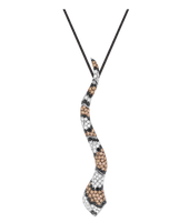 Van Der Bauwede 18K WG Sapphire & Diamond Snake Pendant 00195