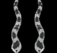 Van Der Bauwede 18K WG Sapphire & Diamond Snake Earrings 00165