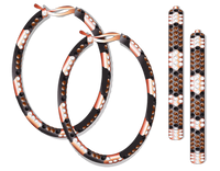 Van Der Bauwede 18K Pink Gold Snake Hoop Earrings 00204