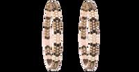 Van Der Bauwede 18K Pink Gold Snake Hoop Earrings 00193
