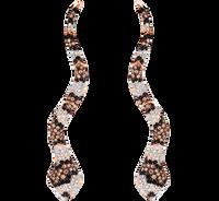 Van Der Bauwede 18K Pink Gold Sapphire & Diamond Snake Earrings 00162