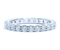 1.27 cttw Diamond Band In 18k White Gold
