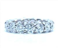 4.22 cttw Diamond Ring In 14k White Gold
