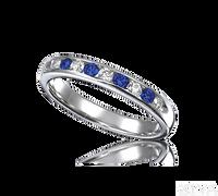 Ziva Sapphire & Diamond Wedding Band