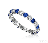 Ziva Sapphire & Diamond Eternity Band