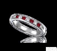 Ziva Ruby & Diamond Wedding Band