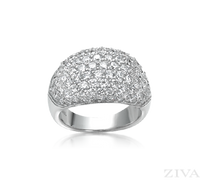 Ziva Pave Diamond Anniversary Band