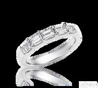 Ziva Emerald Cut Diamond Anniversary Band