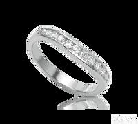 Ziva Channel Set Curved Diamond Wedding Band