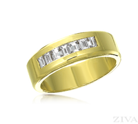 Ziva Baguette Diamond Wedding Band for Men