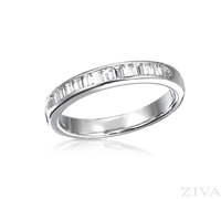 Ziva Baguette Diamond Wedding Band
