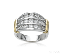 Ziva 3-Row Diamond Anniversary Band