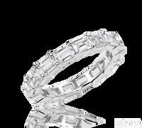 Ziva Emerald Cut Eternity Ring