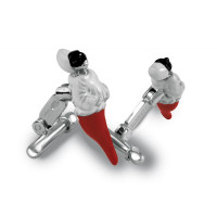 ZANNETTI PULCINELLA CUFFLINKS RED
