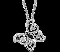Van Der Bauwede 18K WG Diamond Butterfly Pendant 00572
