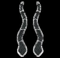 Van Der Bauwede 18k WG & Black Rhodium Sapphire Snake Earrings 00351