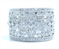 2.24 cttw Diamond Ring In 18k White Gold