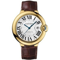 Cartier Ballon Bleu Large (YG/Silver/ Leather)