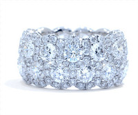 7.02 cttw Diamond Band in 18k White Gold