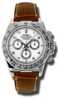 Rolex Daytona WG Leather116519WABR