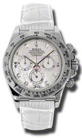Rolex Daytona WG Leather116519MOPDIAW
